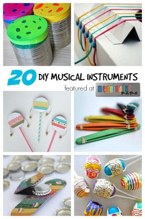 instrument crafts for 20 diy musical instruments diy and crafts musicals and