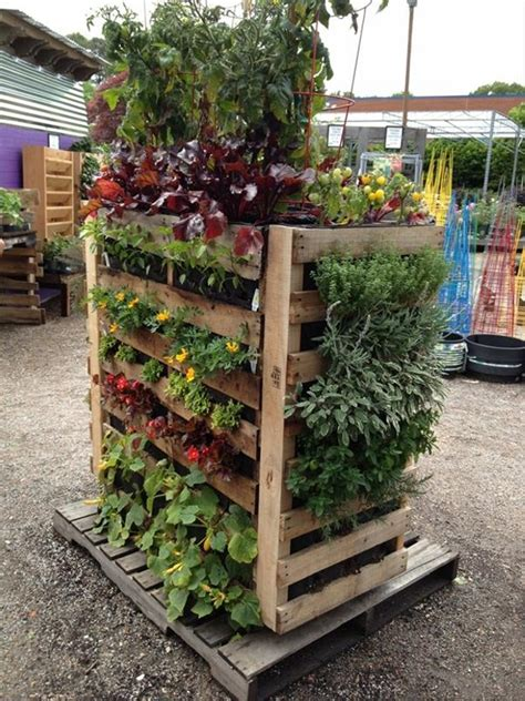 Pallet Garden Decor Ideas For Pallet Garden Pallet Ideas Recycled Upcycled Pallets Furniture Projects
