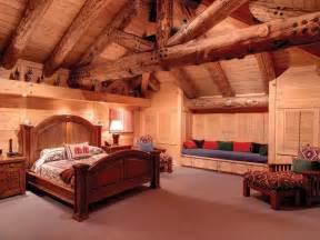 inside log cabin bedroom my house