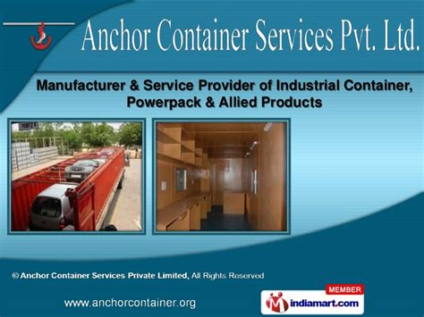 Daster Lowo New Delhi Limited 1 industrial container by anchor container services