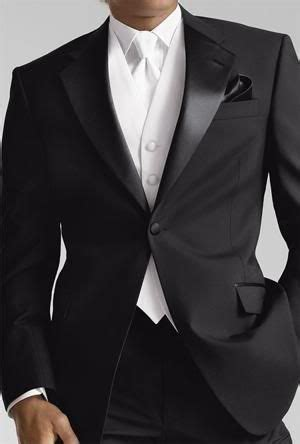 19642 White Black Suit groom in gorgeous black suit white vest and white tie wedding suit wedding suit