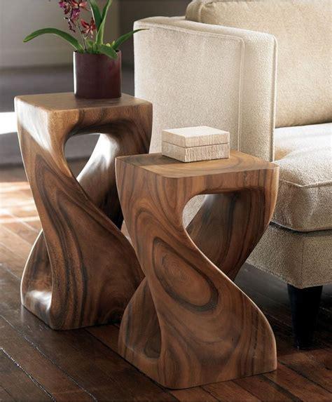 twisty stools monkey pod wood my house projects