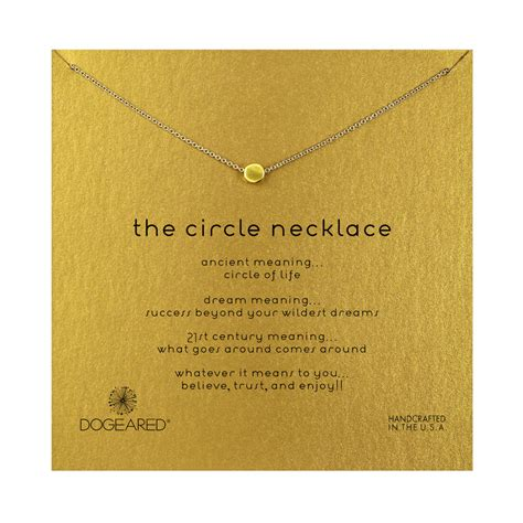 Circle Necklace circle necklace gold dipped dogeared