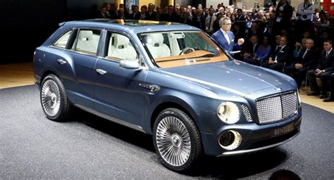first bentley ever first ever bentley suv rolls into the 2012 geneva motor show