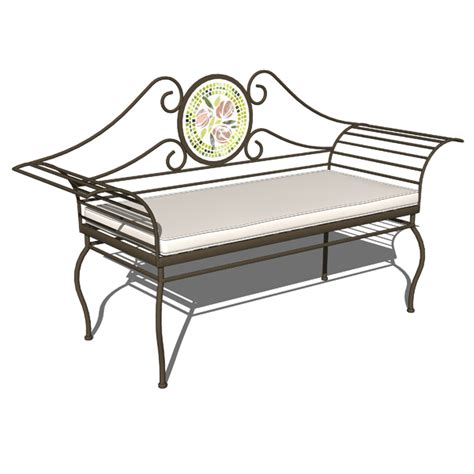 wrought iron patio bench wrought iron benches 3d model formfonts 3d models textures