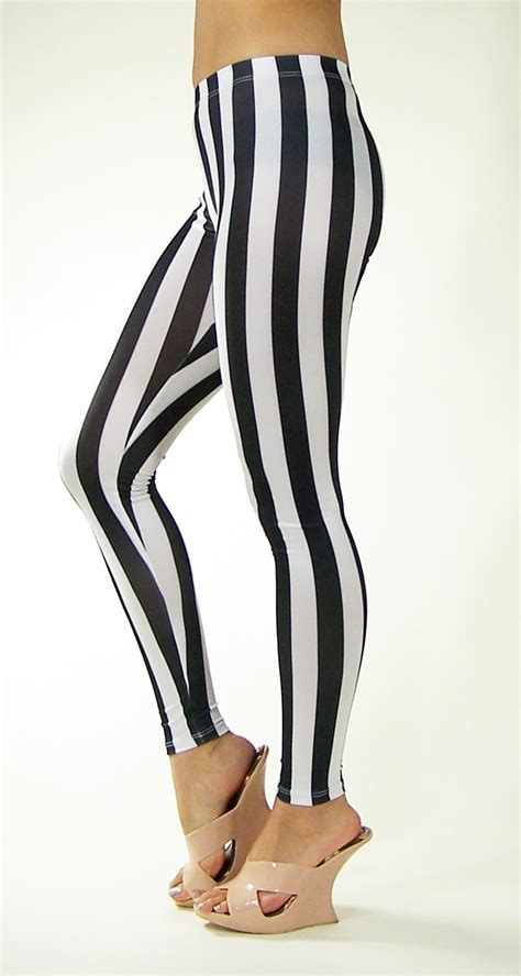 black and white patterned tights british leggings black and white striped leggings