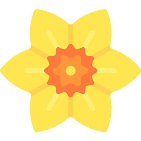 icon pattern svg daffodil free nature icons
