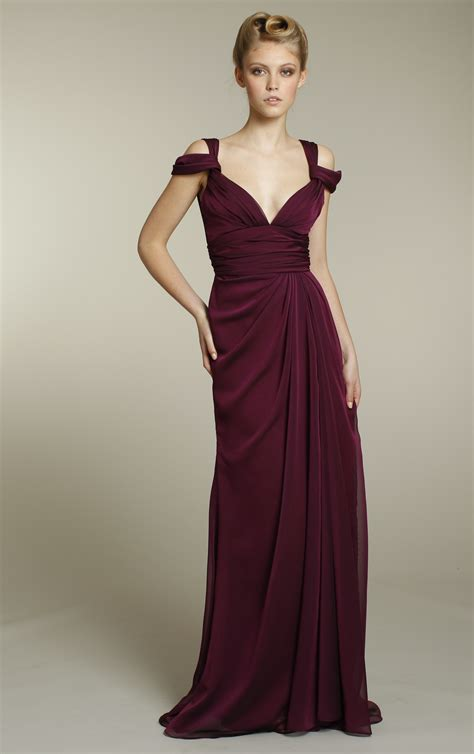 Wedding Dress Maroon by Chiffon Bridesmaids Dress In Rich Maroon Color