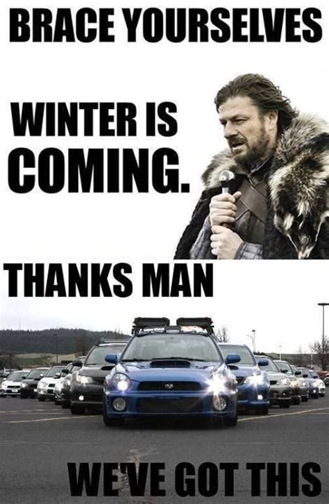 subaru winter meme we got this subaru pinterest