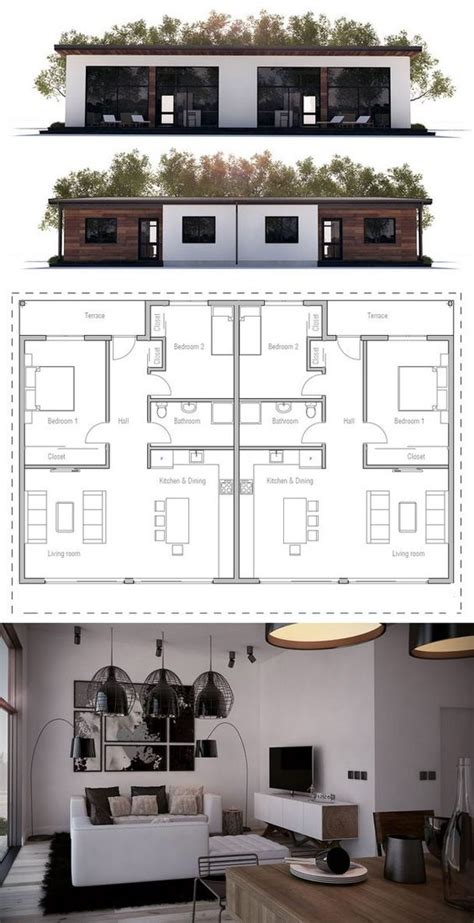 cheap duplex plans affordable dupex house plan from concepthome com duplex