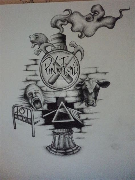 my first tattoo sketch pink floyd collage by