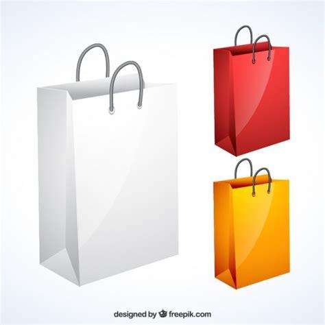 Shopping Bag Free Vector Variety Of Shopping Bags Vector Free