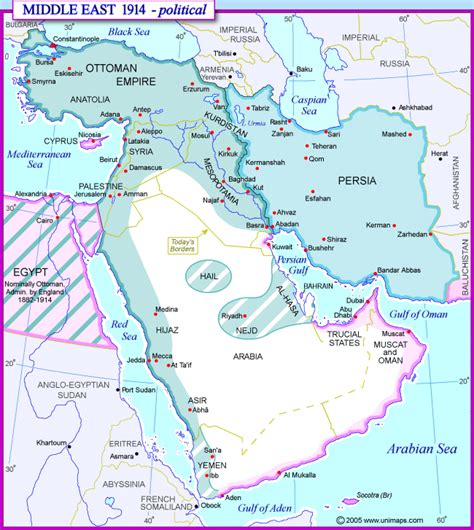 middle east map 1914 ap world history maps