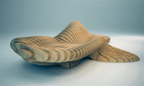 organic bench parametric design the curvilign bench by cl 233 ment loyer