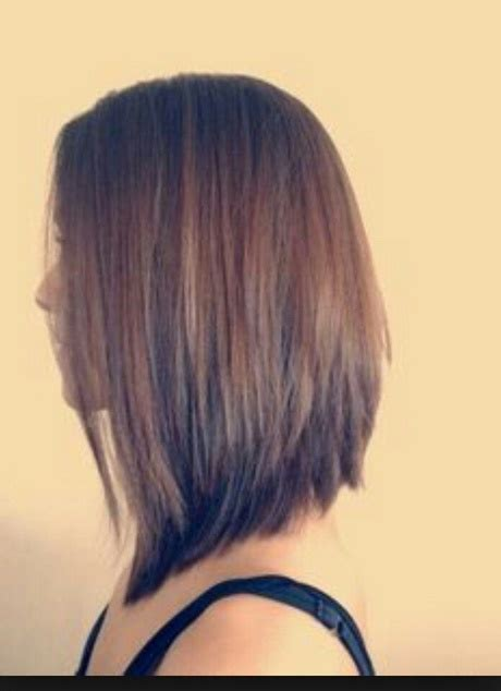 medium hair longer in front hairstyles long in front short in back