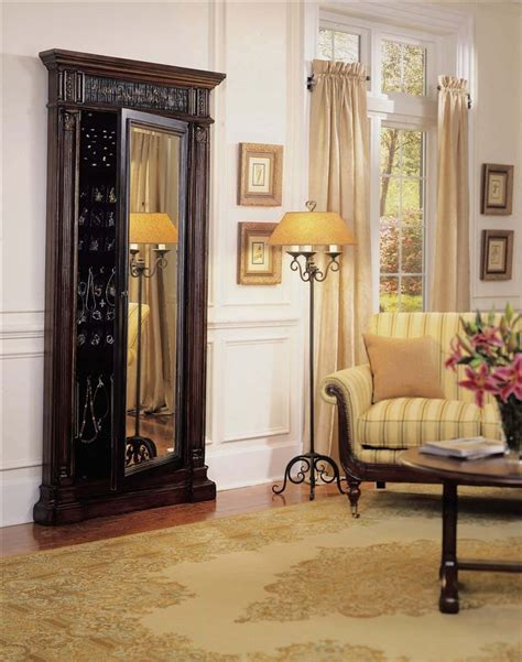 floor length mirror jewelry armoire love this idea full length mirror with jewelry storage