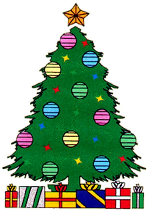 cartoon christmas tree december animated tree with presents happy holidays
