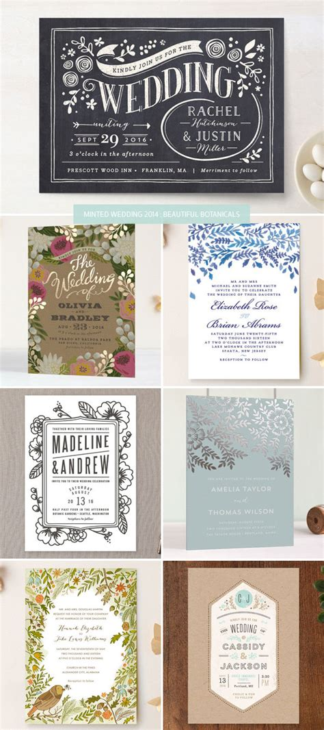 2014 wedding invitations minted wedding invitations 2014 beautiful botanicals