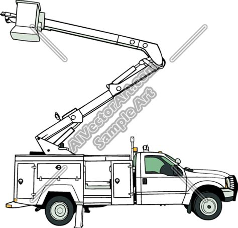 coloring pages bucket truck bucket trucks colouring pages