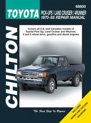 chilton 1989 1996 toyota pick ups land cruiser t100 and 4 runner repair manual northern auto parts toyota land cruiser diy repair manual from chilton
