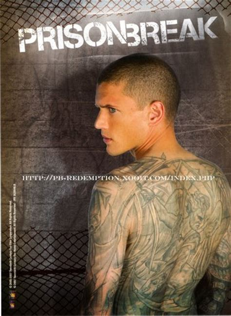 prison break tattoos michael scofield prison wentworth miller michael