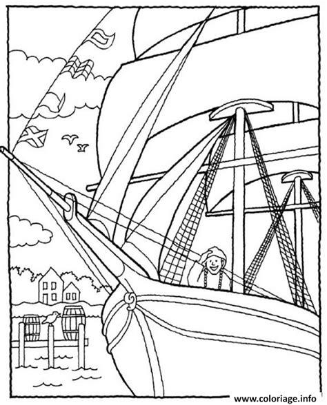 dessin sur bateau coloriage bateau vieux voilier jecolorie