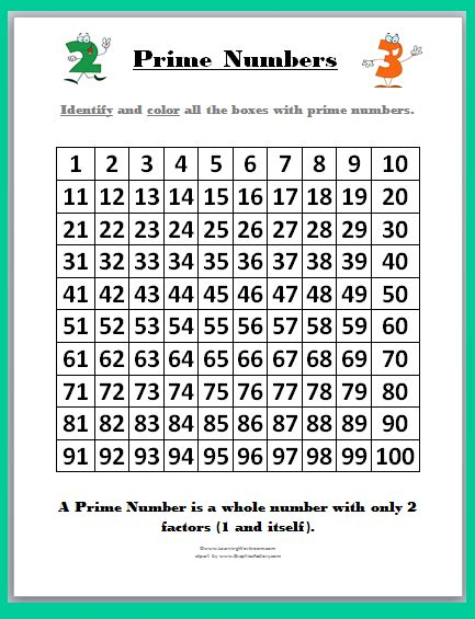 prime composite worksheet learning ideas grades k 8 prime and composite numbers and printables