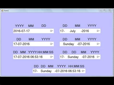format datetimepicker set different types of custom date format in