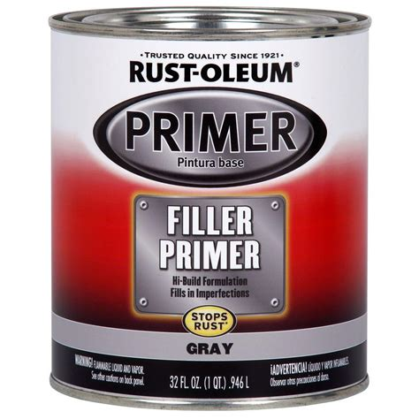 rust oleum automotive 1 qt gray filler primer 2 pack