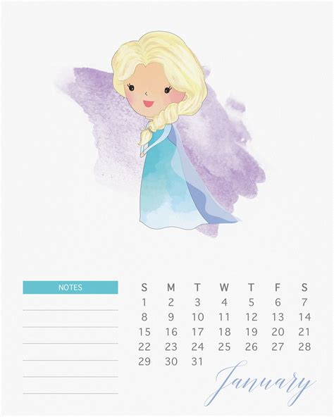 imagenes octubre mes de las princesa free printable 2017 watercolor princess calendar the