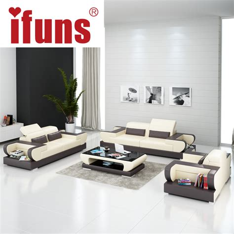 modern leather living room furniture ifuns modern design genuine leather sectional sofa sofa