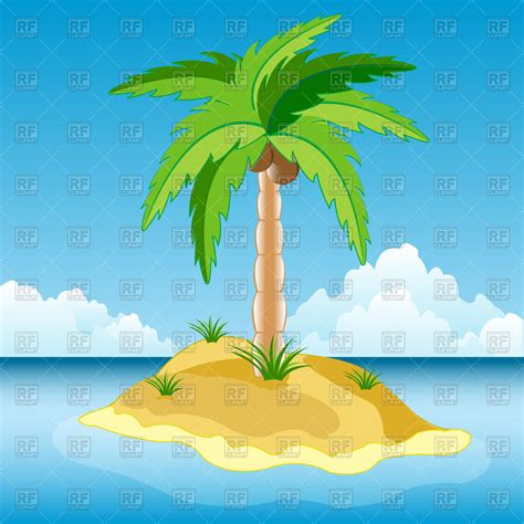 with palm tree island island in sea with palm tree vector image of travel