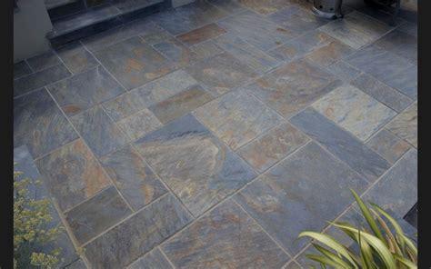 rustic copper slate paving slabs garden patio stone