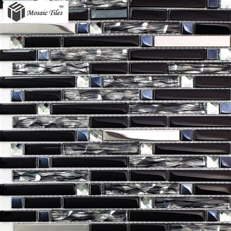 glass tile kitchen backsplashes pictures metal and white tst glass mental tile silver stainless steel porcelain