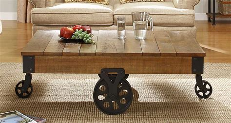 Rustic Coffee Tables With Wheels Homelegance 3228 30 Cocktail Table Solid Top With Wheels Rustic Brown Priceco Furniture Store