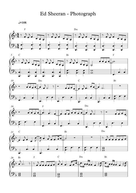 ed sheeran perfect piano tutorial sheet music for free piano sheet music ed sheeran photograph pdf loving