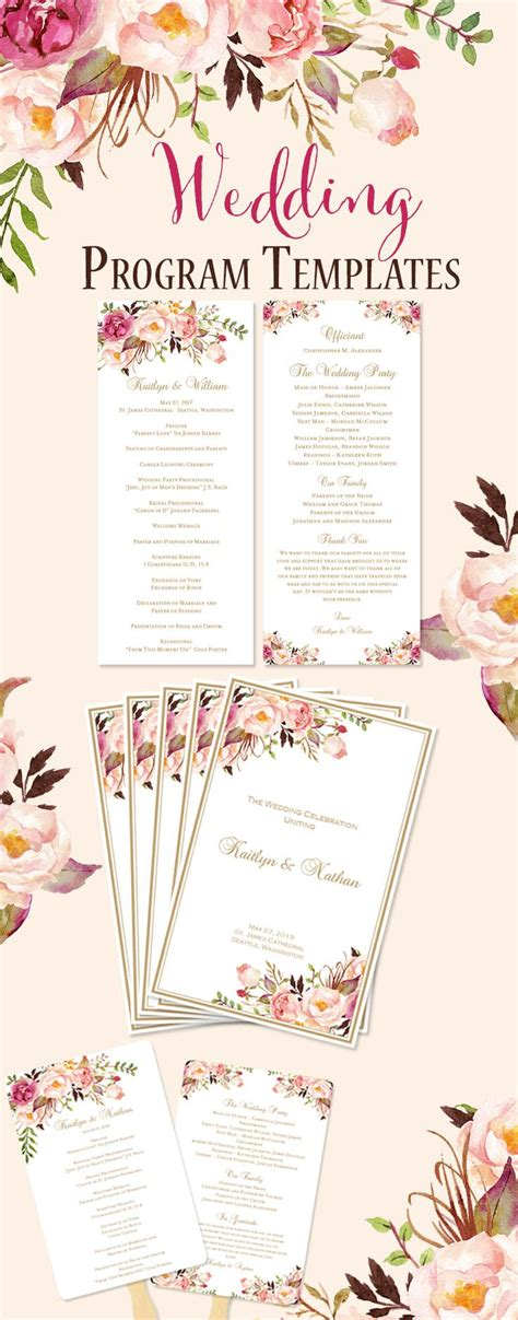 Best 25 Wedding Program Templates Ideas On Pinterest Wedding Program Template Free Program Program Templates