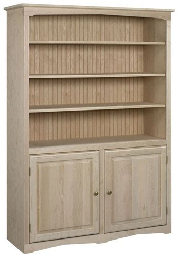 Bookcases With Doors Bare Woods Furniture Real Wood Unfinished Wood Bookcases With Doors