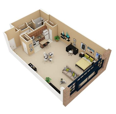 Studio Loft Apartment Floor Plans | 15 studio loft apartment floor plans for home design