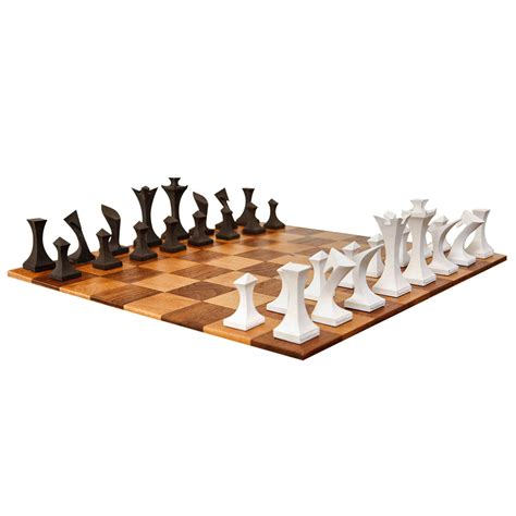 modern chess set modern chess set by robert lander at 1stdibs