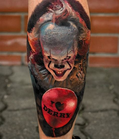 pennywise tattoo pennywise by stefan m 252 ller horror