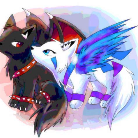 anime chibi wolf chibi wolf with wings