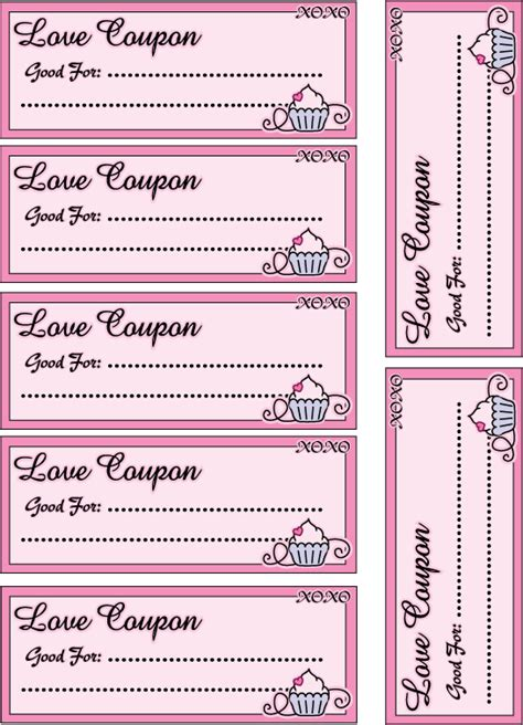 free custom printable love coupons love coupon template new calendar template site