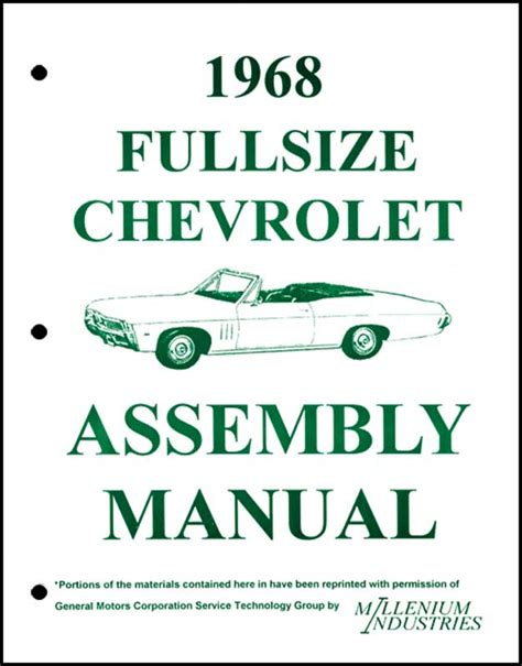service manual all car manuals free 1965 chevrolet corvette windshield wipe control used 1968 all makes all models parts lb1068 1968 chevrolet full size assembly manual classic