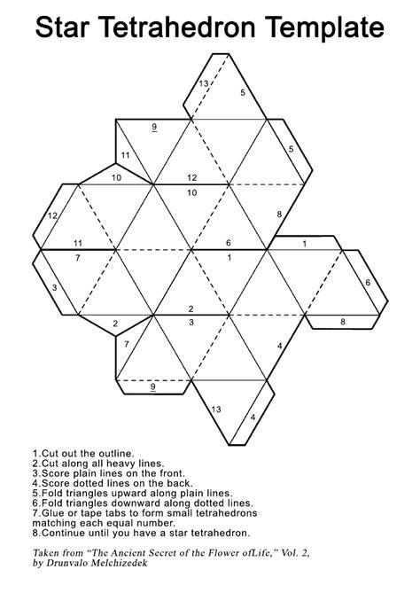 Printable Star Tetrahedron | star tetrahedron printout template universe of ones
