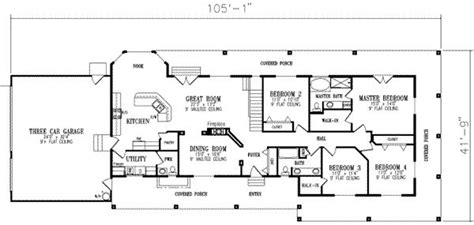 4 Bedroom Ranch Floor Plans by 4 Bedroom House Floor Plans 4 Bedroom Ranch House Floor