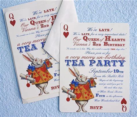 Unbirthday Card Template by In Un Birthday Tea Invitations Thank