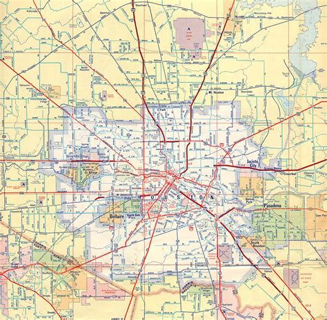 houston texas road map houston maps houston past