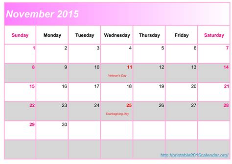 printable monthly planner november 2015 november 2015 calendar printable 2015 calendar chainimage