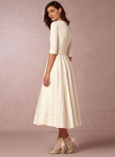 Sleeve V Neck A Line Dress s v neck half sleeve solid a line dress